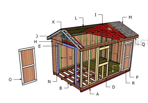 Free Shed Blueprints 10x16 Frame