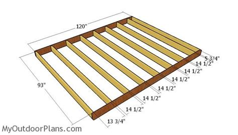 Free Shed Floor Plans 10x8