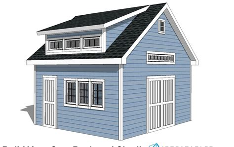 Free Shed Plans 12x16 With Dormer Windows
