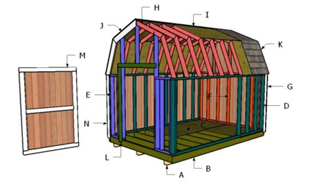 Free Shed Plans 8x12 Gambrel Roof