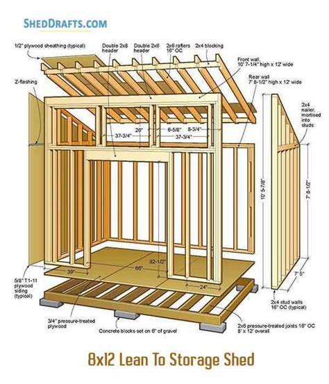 Free Shed Plans 8x12 Lean To
