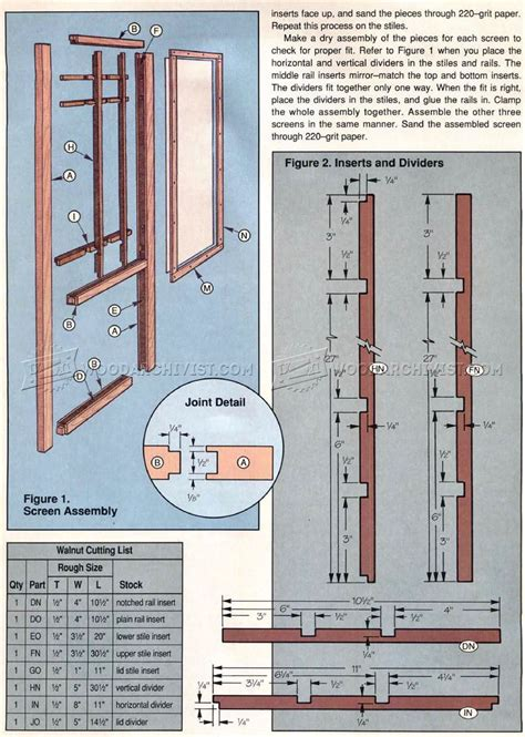Free Shoji Door Plans Woodworking