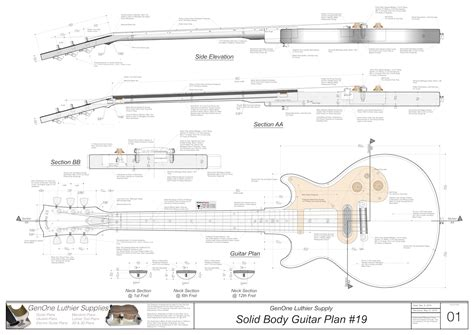 Free Solid Body Electric Guitar Plans