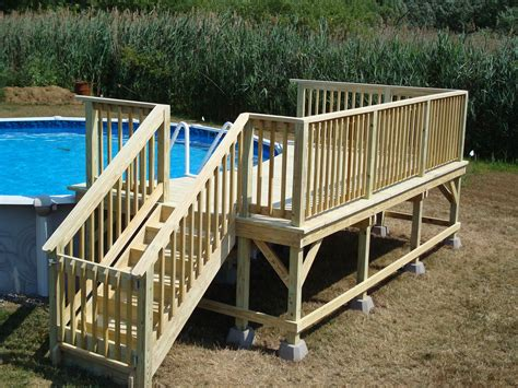 Free Standing Above Ground Pool Deck Plans