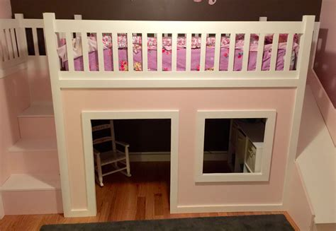 Free Standing Loft Bed Diy Playhouse