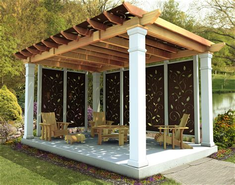 Free Standing Pergola With Roof Plans