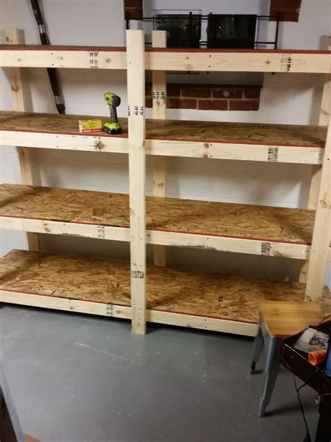 Free Standing Wood Shelves For Garage