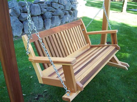 Free Standing Wooden Yard Swing Plans