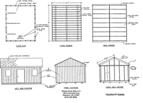 Free Storage Shed Plans 12 X 24