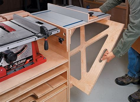 Free Table Saw Mobile Base Plans