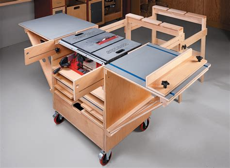 Free Table Saw Workstation Plans For Houses
