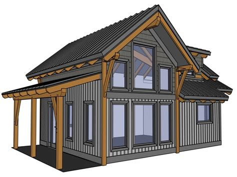 Free Timber Frame Cabin Plans