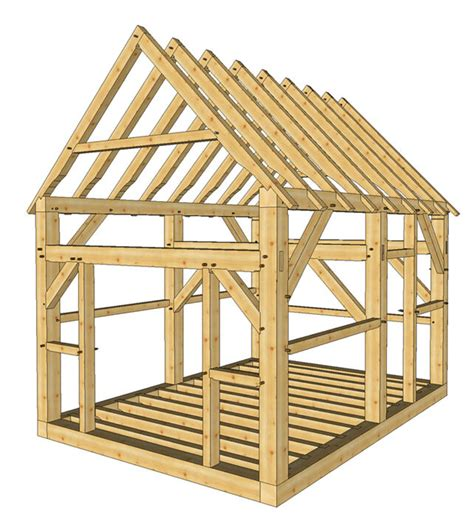 Free Timber Frame Wood Shed Plans