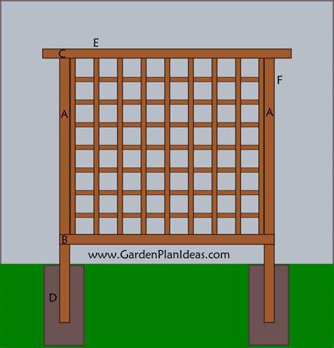 Free Trellis Plans Do it yourself Termite Prevention For Wood