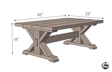 Free Trestle Coffee Table Plans