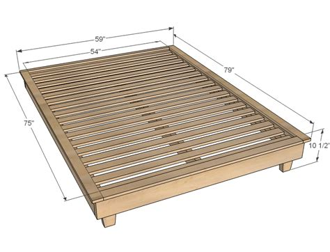 Free Twin Size Platform Bed Plans