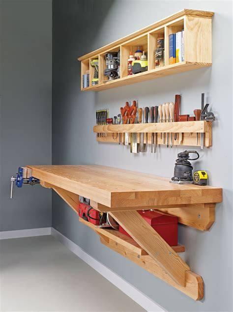 Free Wall Mounted Workbench Plans