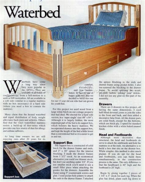 Free Waterbed Frame Plans