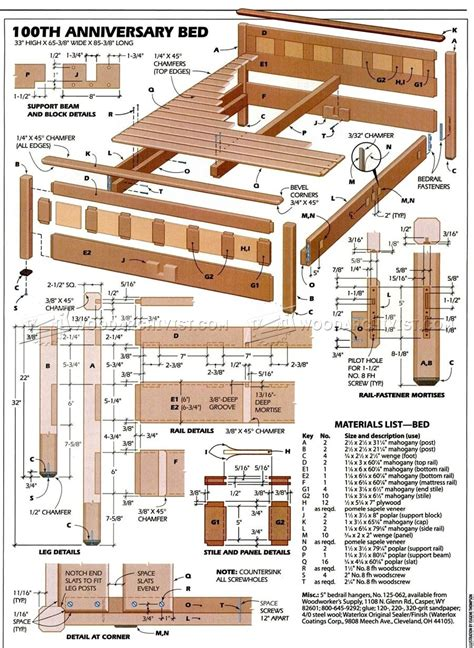 Free Wood Furniture Plans Bed