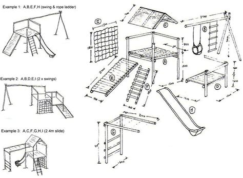 Free Wood Jungle Gym Plans