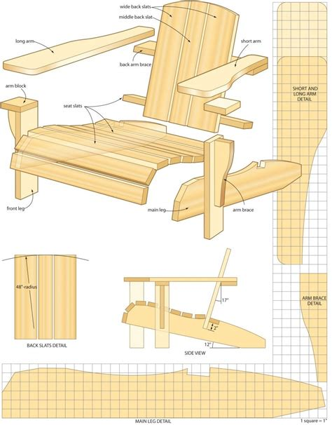 Free Wood Plans For Adirondack Chair