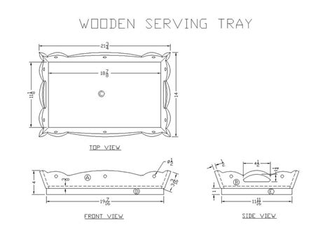 Free Wood Serving Tray Plans