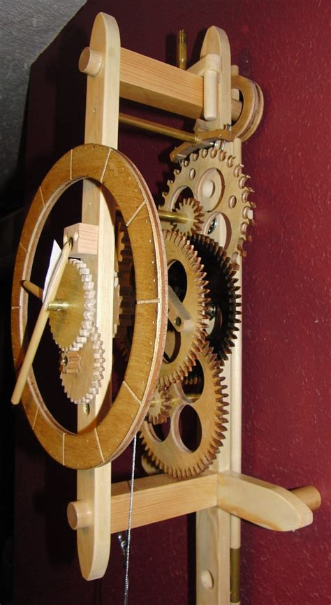 Free Wooden Clock Plans With Wooden Gears Plans