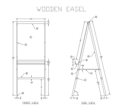 Free Wooden Easel Plans