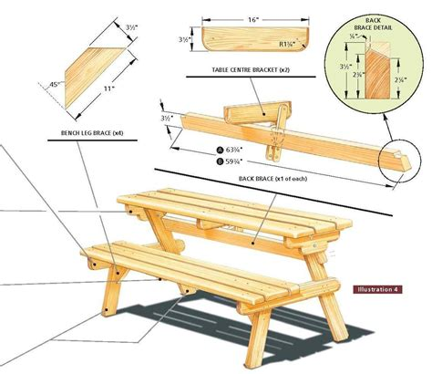 Free Wooden Folding Picnic Table Plans