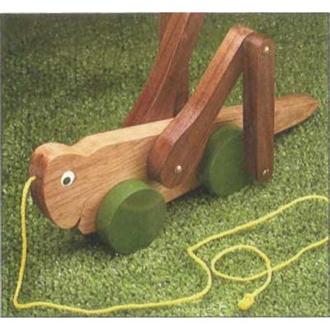 Free Wooden Grasshopper Pull Toy Plans