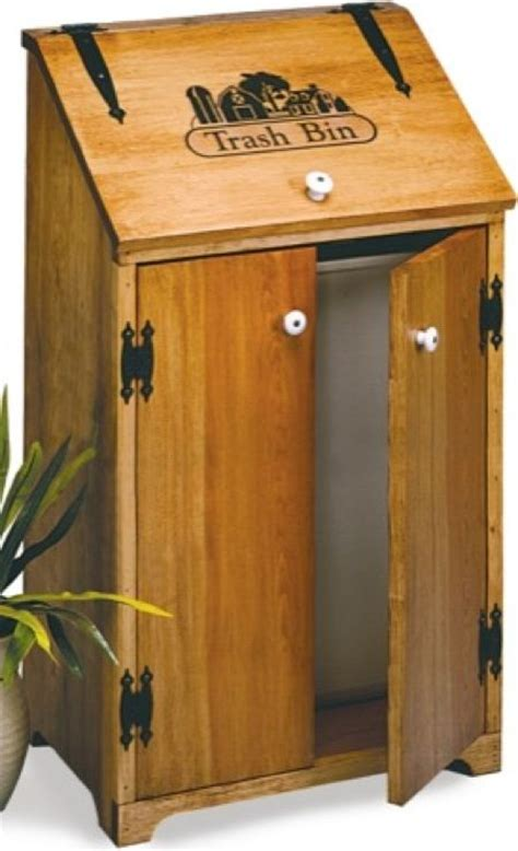 Free Wooden Kitchen Trash Can Plans