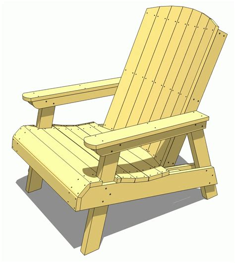 Free Wooden Lawn Chair Plans