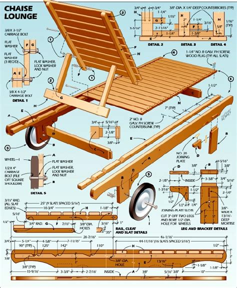Free Wooden Lounge Chair Plans