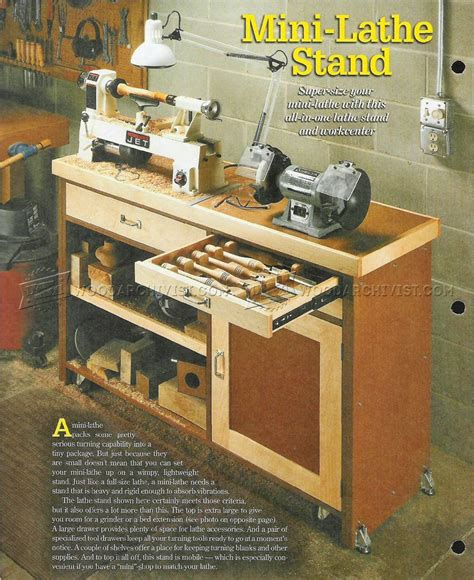 Free Wooden Mini Lathe Plans