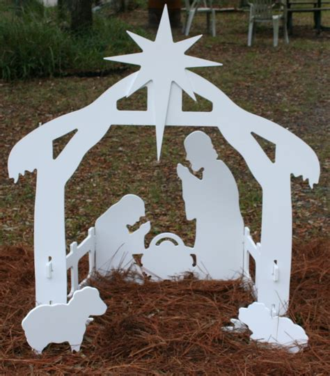 Free Wooden Nativity Scene Patterns Outdoor Christmas