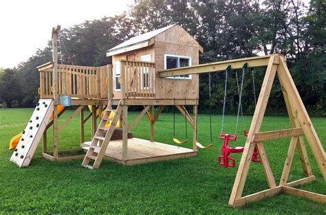 Free Wooden Outdoor Playset Plans