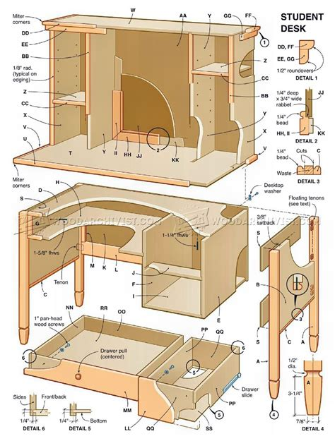 Free Wooden Student Desk Plans