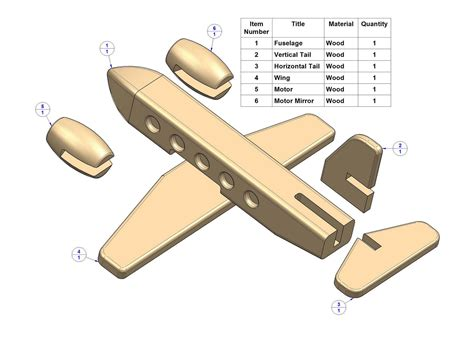 Free Wooden Toy Airplane Drawings