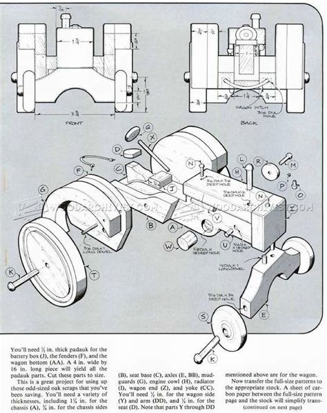 Free Wooden Toy Plans Tractor
