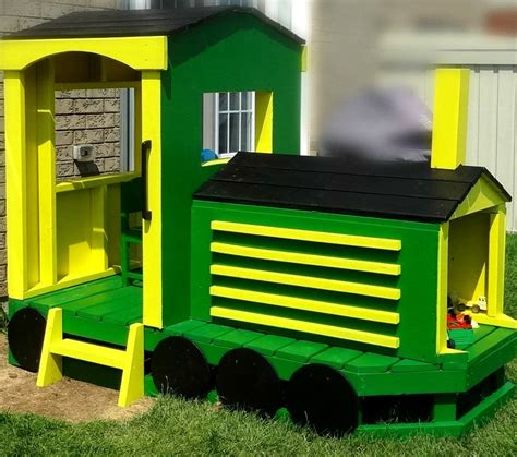 Free Wooden Train Playhouse Plans