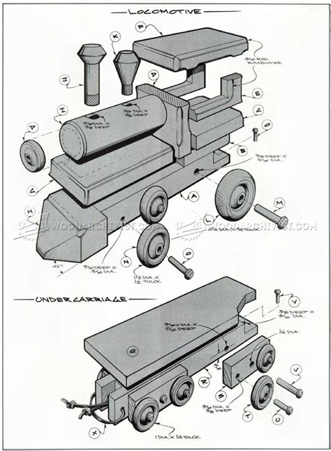 Free Wooden Train Toy Box Plans