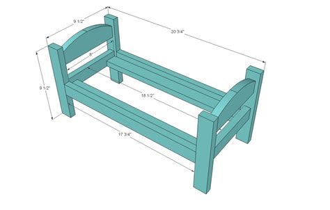 Free Woodworking Doll Bed Plans