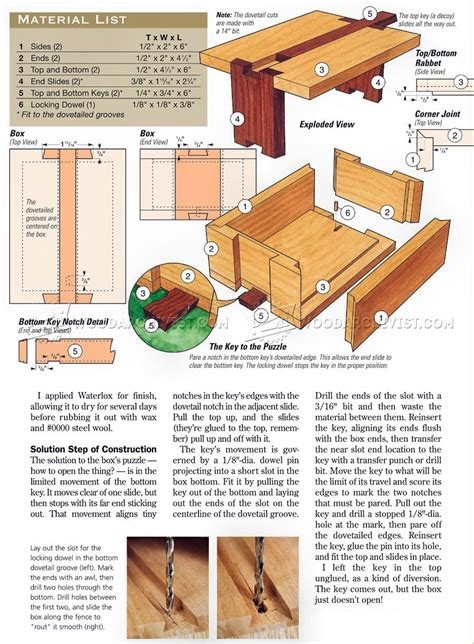 Free Woodworking Puzzle Box Plans