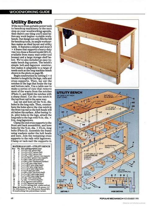 Free Workbench Plans Popular Mechanics