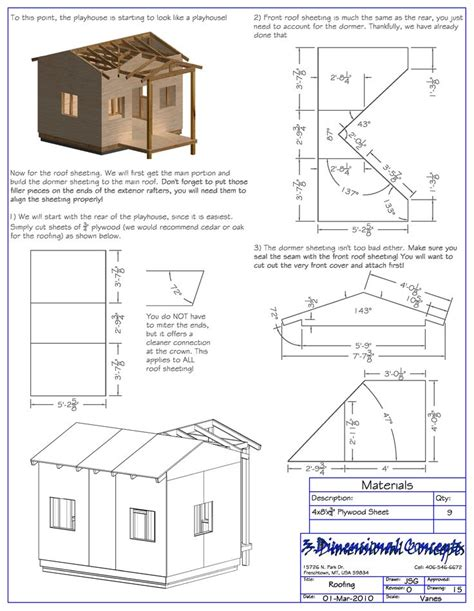 Free wendy playhouse plans Image