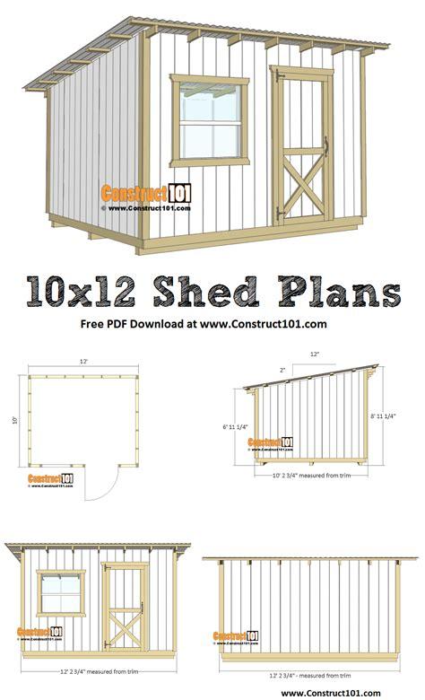 Free-10x12-Lean-To-Shed-Plans-Pdf