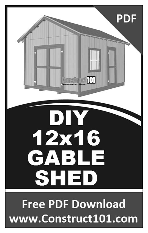 Free-12x16-Lean-To-Shed-Plans-Pdf