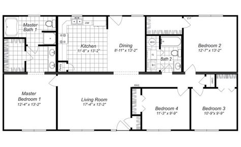 Free-4-Bedroom-House-Plans-And-Designs