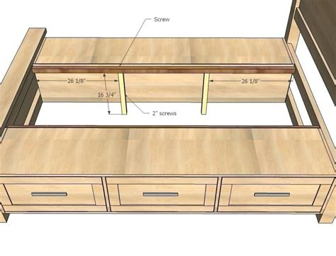 Free-Bed-Plans-With-Drawers
