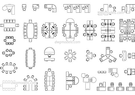 Free-Cad-Blocks-Furniture-Plan